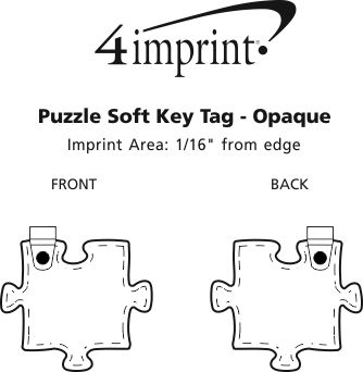 Imprint Area of Puzzle Soft Keychain - Opaque