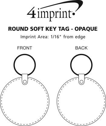 Imprint Area of Round Soft Keychain - Opaque