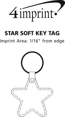 Imprint Area of Star Soft Keychain - Opaque