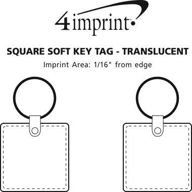 Imprint Area of Square Soft Keychain - Translucent