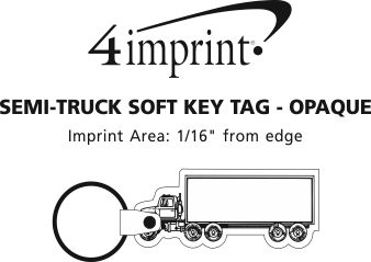 Imprint Area of Semi-Truck Soft Keychain - Opaque