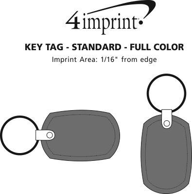 Imprint Area of Standard Shape Soft Keychain - Full Color
