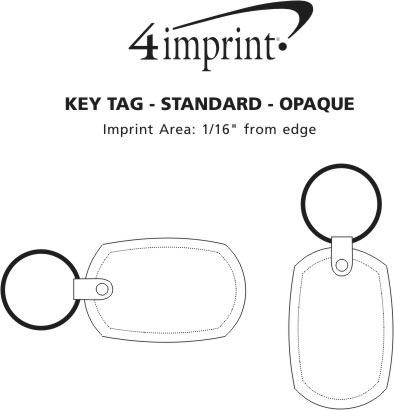 Imprint Area of Standard Shape Soft Keychain - Opaque