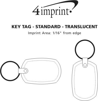 Imprint Area of Standard Shape Soft Keychain - Translucent