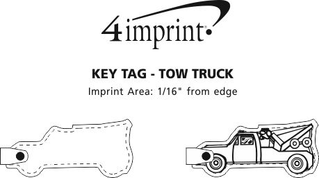 Imprint Area of Tow Truck Soft Keychain - Opaque