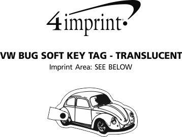 Imprint Area of VW Bug Soft Keychain - Translucent