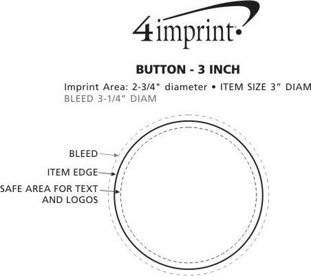 "Imprint Area of Round Button - 3"""