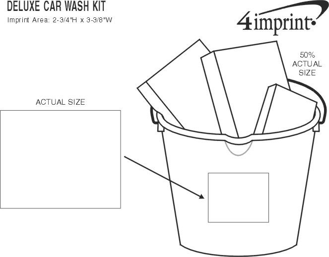 Imprint Area of Deluxe Car Wash Kit