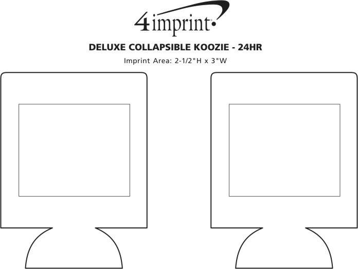 Imprint Area of Deluxe Collapsible Koozie® - 24 hr