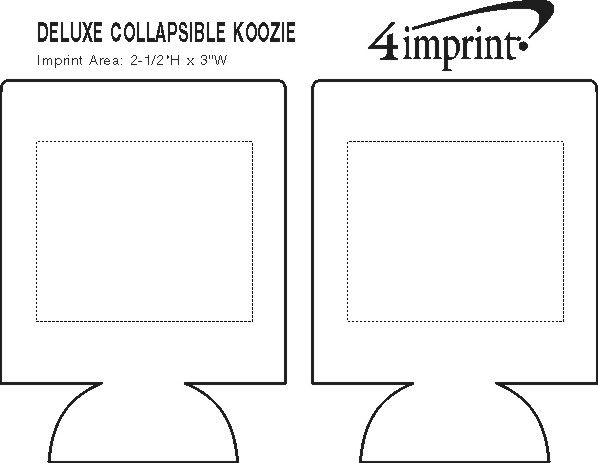 Imprint Area of Deluxe Collapsible Koozie® - Transfer