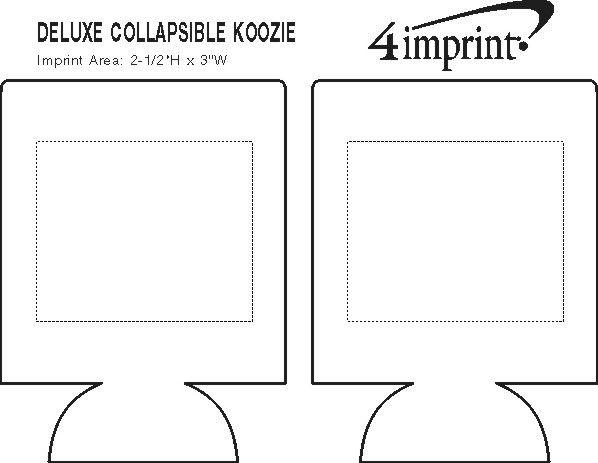 Imprint Area of Deluxe Collapsible Koozie® - Screen