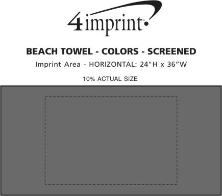 Imprint Area of Beach Towel - Colors - Screen