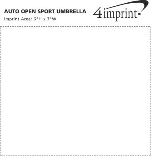 "Imprint Area of Auto Open Sport Umbrella - 48"" Arc"