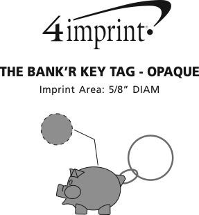 Imprint Area of The Bank'R Keychain - Opaque