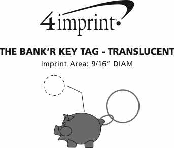 Imprint Area of The Bank'R Keychain - Translucent