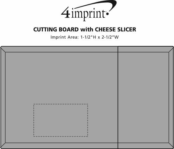 Imprint Area of Cutting Board with Slicer Snack Package