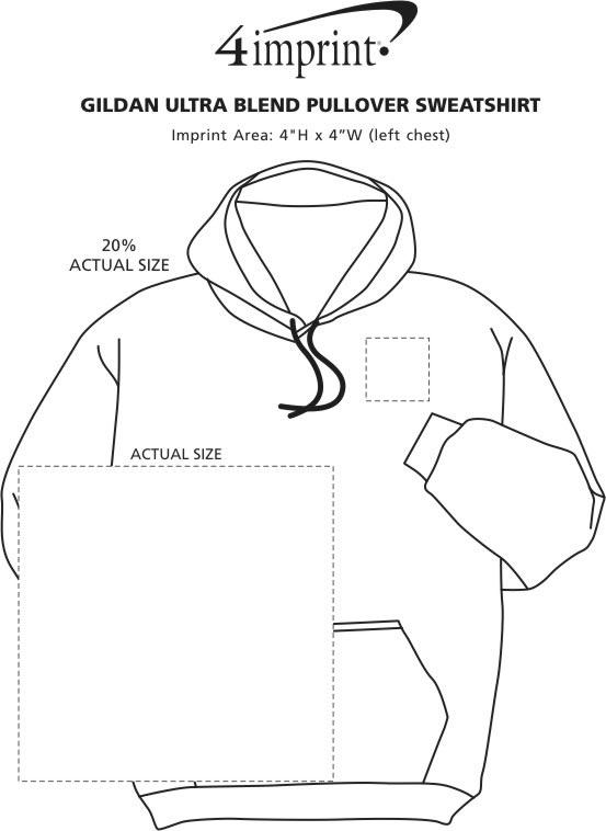 Imprint Area of Gildan 50/50 Heavyweight Hoodie - Screen