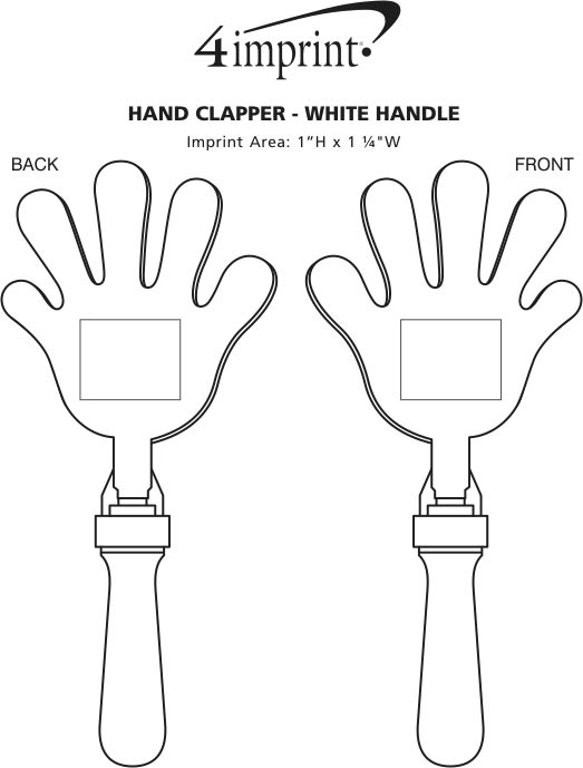 Imprint Area of Hand Clapper - White Handle