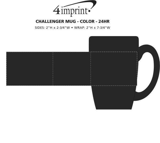 Imprint Area of Challenger Coffee Mug - Colors - 11 oz. - 24 hr