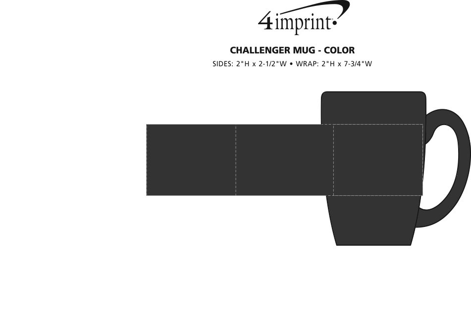 Imprint Area of Challenger Coffee Mug - Colors - 11 oz.