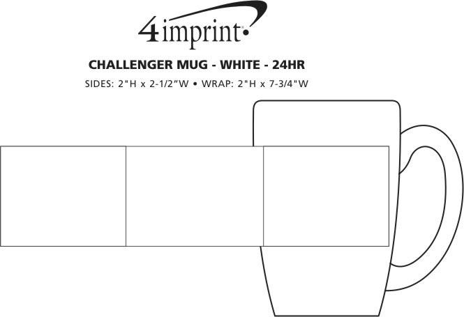 Imprint Area of Challenger Coffee Mug - White - 11 oz. - 24 hr