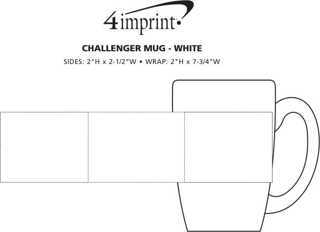 Imprint Area of Challenger Coffee Mug - White - 11 oz.