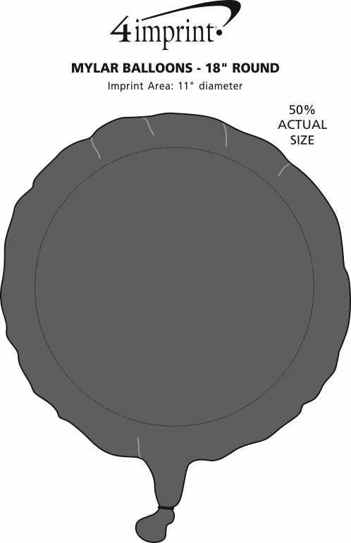 "Imprint Area of Foil Balloon - 17"" - Round"