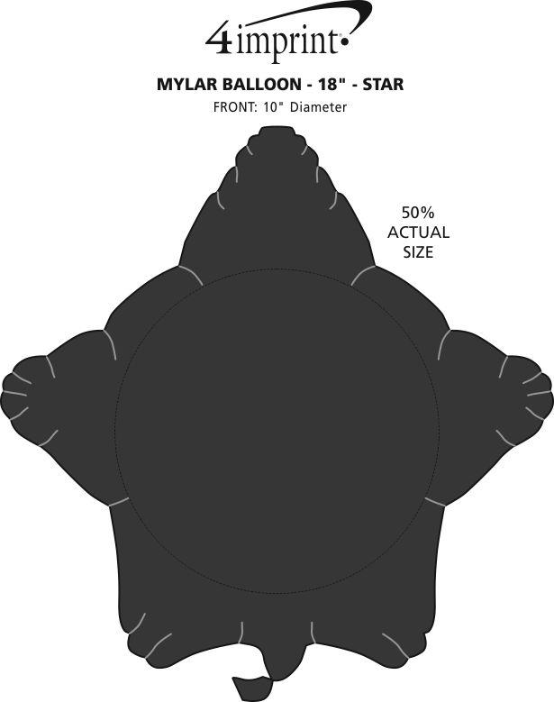 "Imprint Area of Foil Balloon - 17"" - Star"