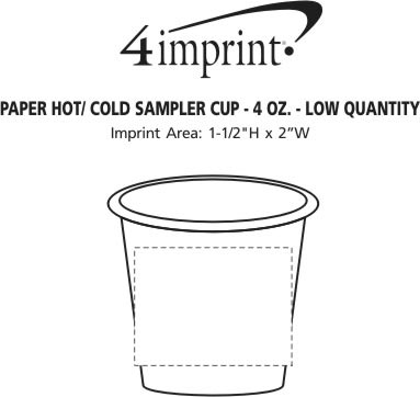 Imprint Area of Paper Hot/Cold Sampler Cup - 4 oz. - Low Qty