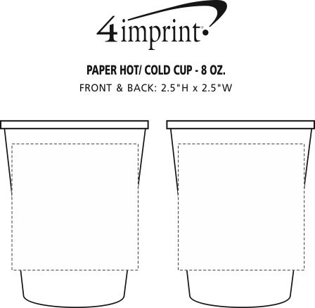 Imprint Area of Paper Hot/Cold Cup - 8 oz.
