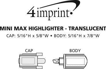 Imprint Area of Mini Max Highlighter - Translucent