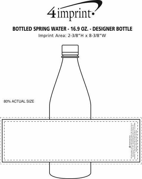 Imprint Area of Bottled Spring Water - 16.9 oz. - Designer Bottle