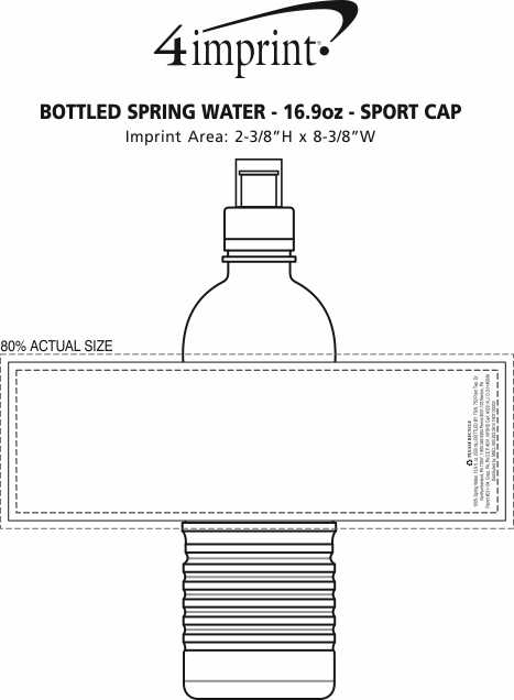 Imprint Area of Bottled Spring Water - 16.9 oz. - Sport Cap