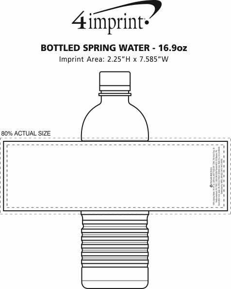 Imprint Area of Bottled Spring Water - 16.9 oz.