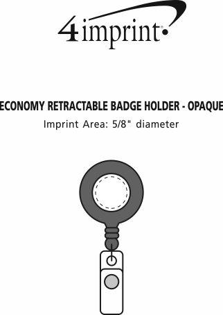 Imprint Area of Economy Retractable Badge Holder - Opaque