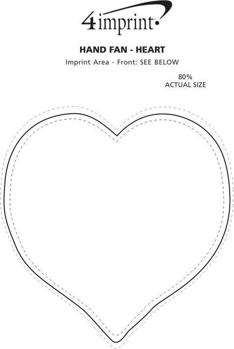 Imprint Area of Hand Fan - Heart