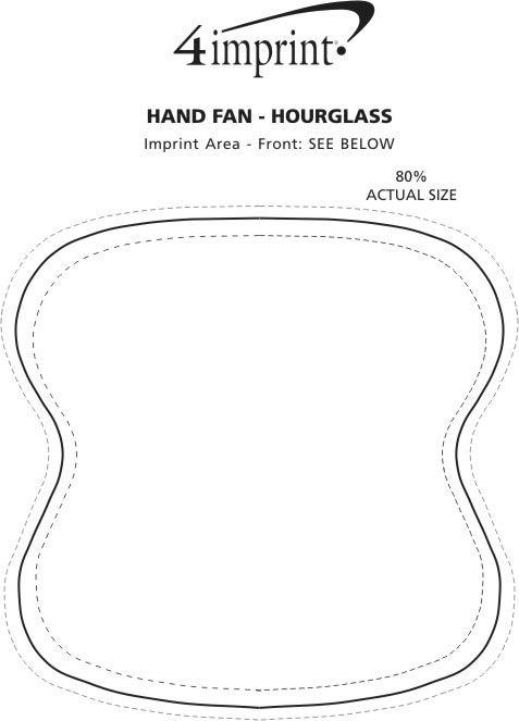 Imprint Area of Hand Fan - Hourglass