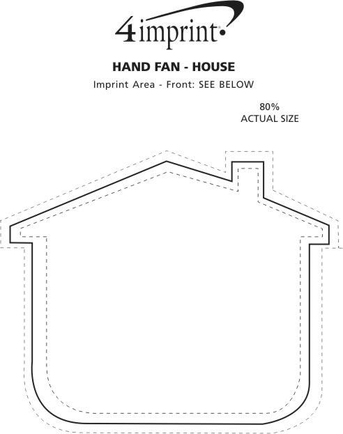 Imprint Area of Hand Fan - House