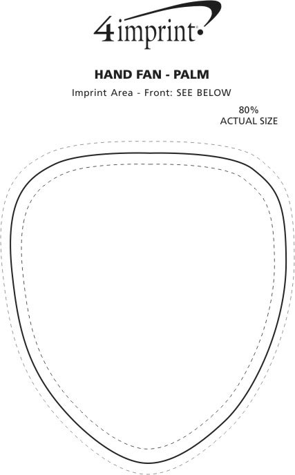Imprint Area of Hand Fan - Palm Leaf