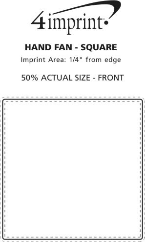 """Imprint Area of Hand Fan - 8"""" Square"""