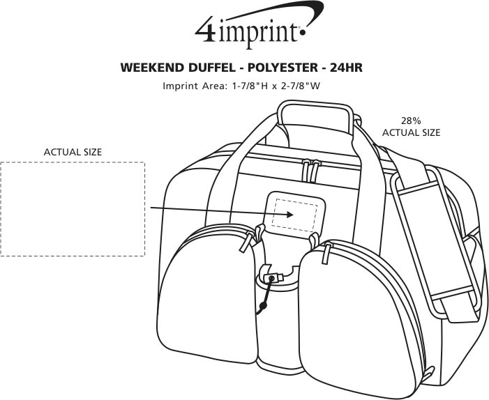 Imprint Area of Weekend Duffel - Polyester - 24 hr