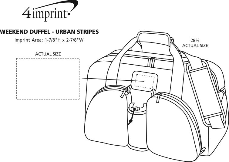 Imprint Area of Weekend Duffel - Polyester - Urban Stripes