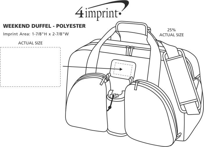Imprint Area of Weekend Duffel - Polyester