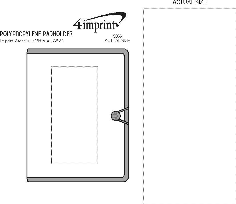 Imprint Area of Polypropylene Pad Holder