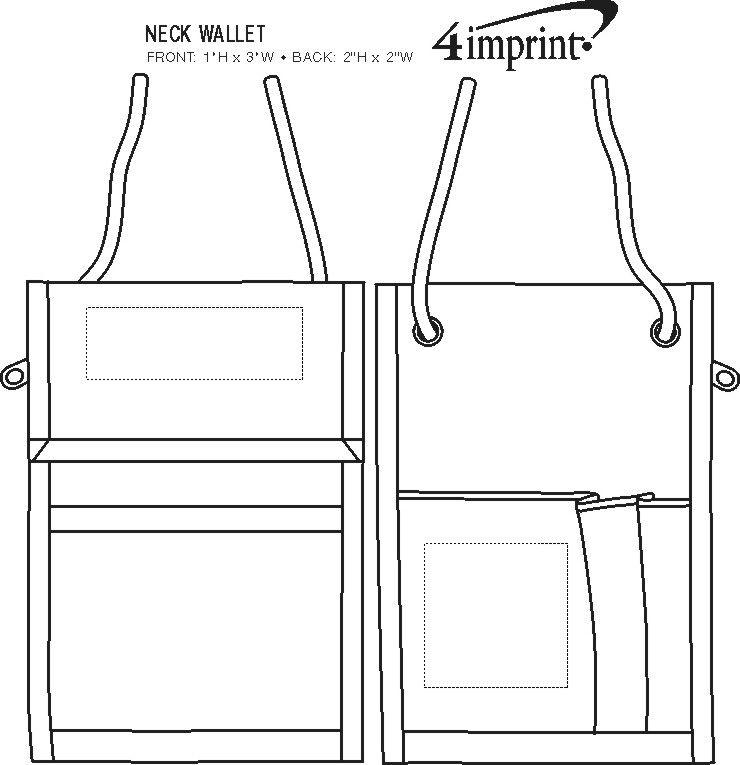 Imprint Area of Neck Wallet