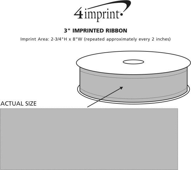 "Imprint Area of Imprinted Ribbon - 3"""