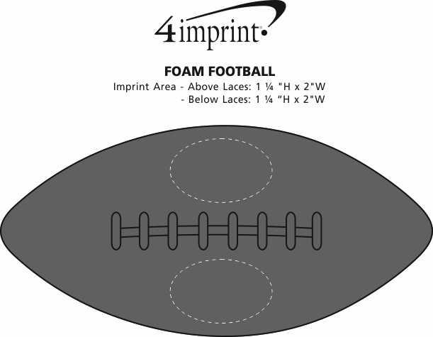 Imprint Area of Foam Football
