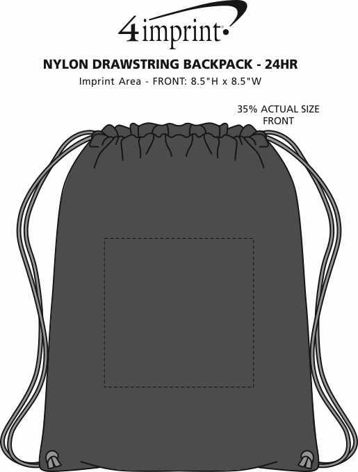 Imprint Area of Sport Drawstring Backpack - 24 hr