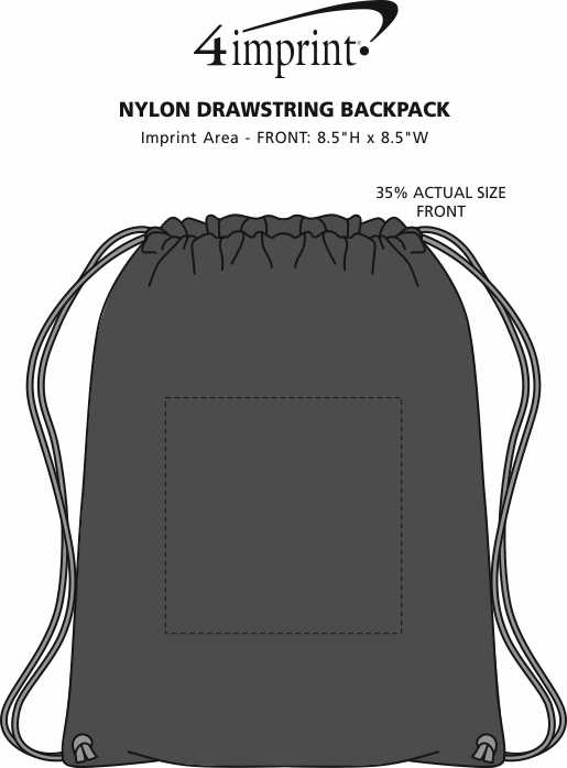Imprint Area of Sport Drawstring Backpack