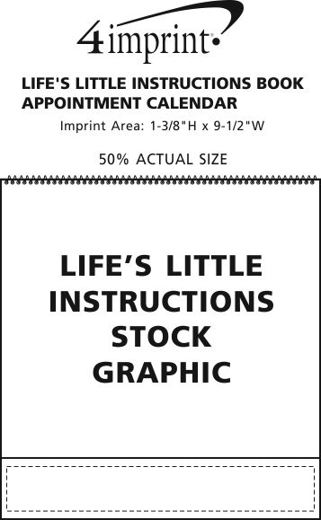 Imprint Area of Life's Little Instruction Book Appointment Calendar